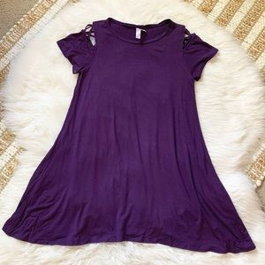 Francesca's purple swing skater dress